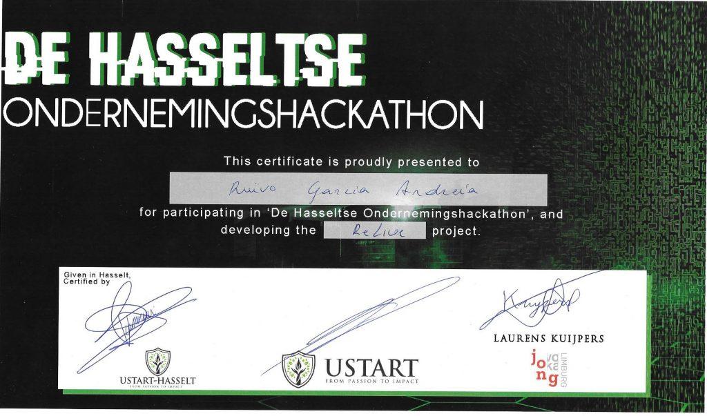 Certificaat Hackathon